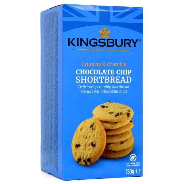 Kingsbury Chocolate Chip Shortbread 150g - Butterkekse mit Schokostückchen