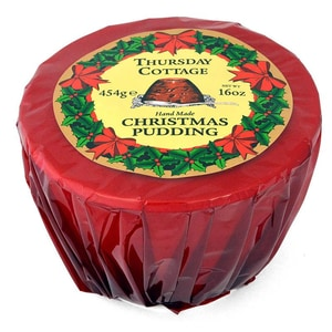 Thursday Cottage Christmas Pudding 454g Cellophanverpackung - Weihnachtspudding