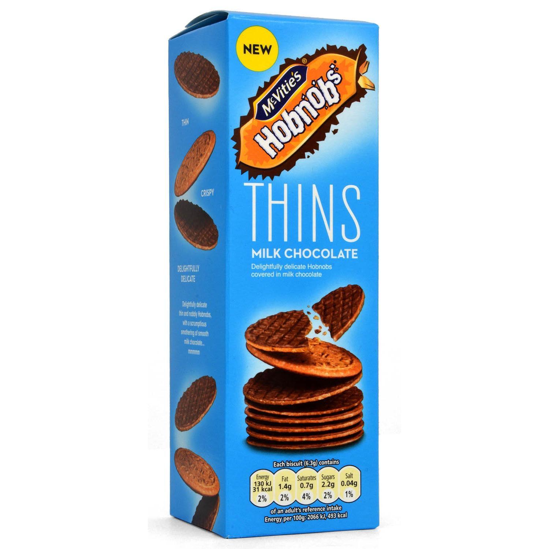 McVities Hobnobs Thins mit Milchschokolade 170g - Kekse mit Milchschokolade