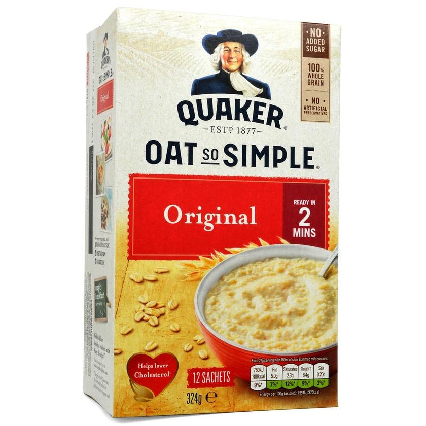 Quaker Oats So Simple Original Porridge 10er-Pack - Instant-Haferflocken