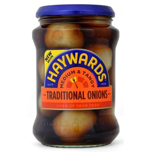 Haywards Traditional Onions 400g - Eingelegte Zwiebeln, Abtropfgewicht 210g