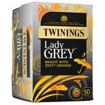 Twinings Lady Grey Tee 50 aromatisierter Schwarztee in Teebeuteln 125g