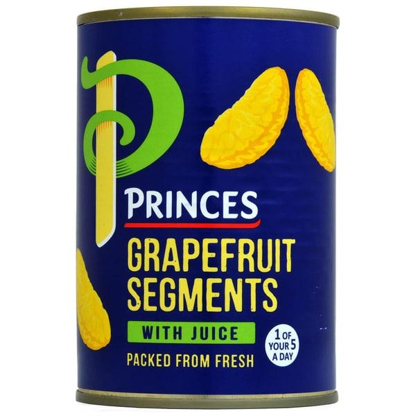 Princes Grapefruit Segments in Juice - Stücke in Saft, Abtropfgewicht 215g