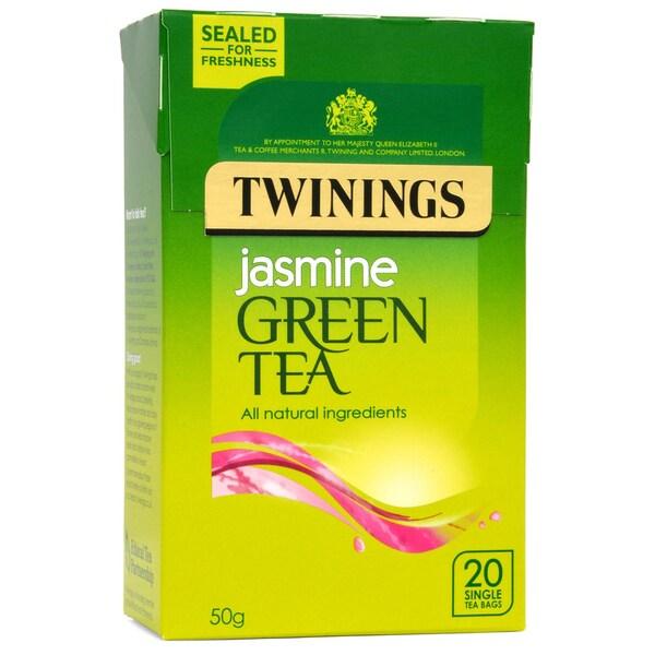 Twinings Jasmin Grüner Tee 20 Teebeutel aromatisierter Grüntee mit Jasminblüten