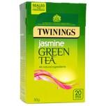 Twinings Jasmin Grüner Tee 20 Teebeutel - aromatisierter Grüntee mit Jasminblüten