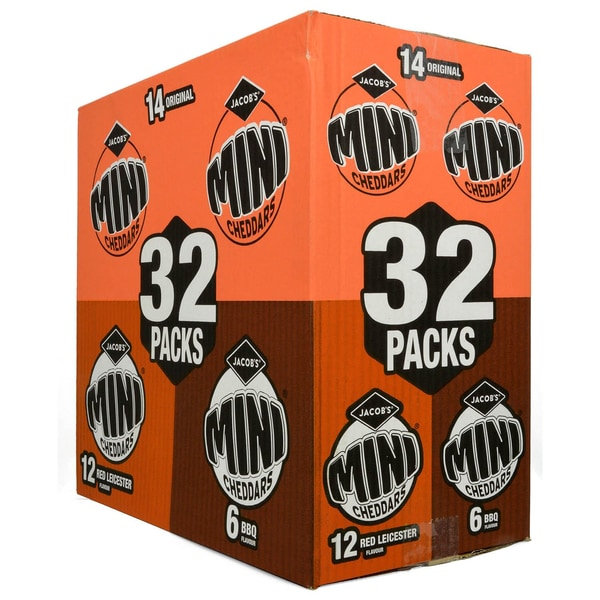 Jacobs 32 Mini Cheddars Variety Box - Knabbergebäck-Sortiment 800g