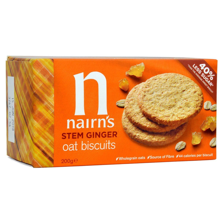 Nairn's Stem Ginger Oat Biscuits - Haferkekse mit Ingwer