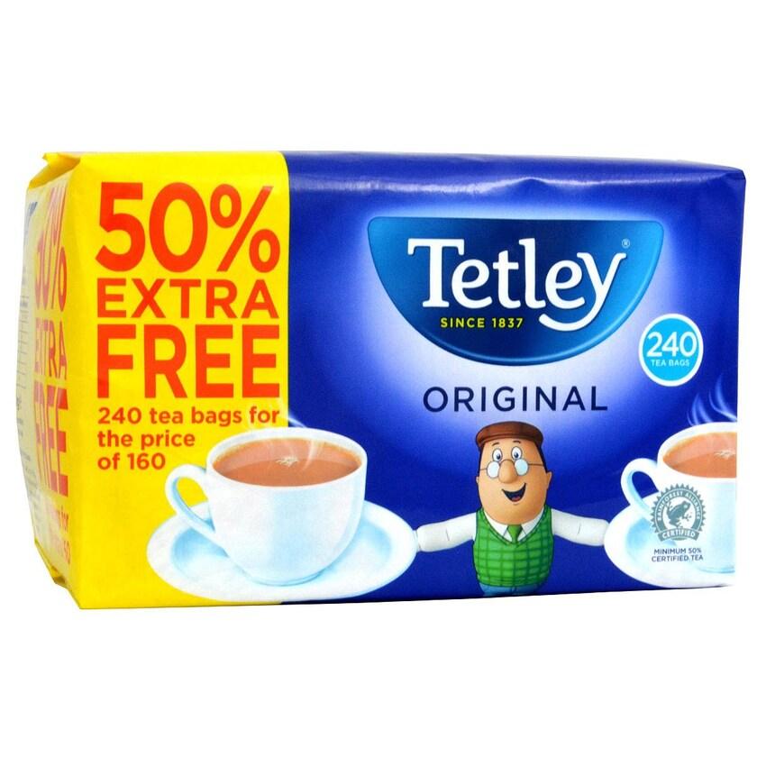 Tetley Tea 160+80=240 Teebeutel Schwarztee 750g