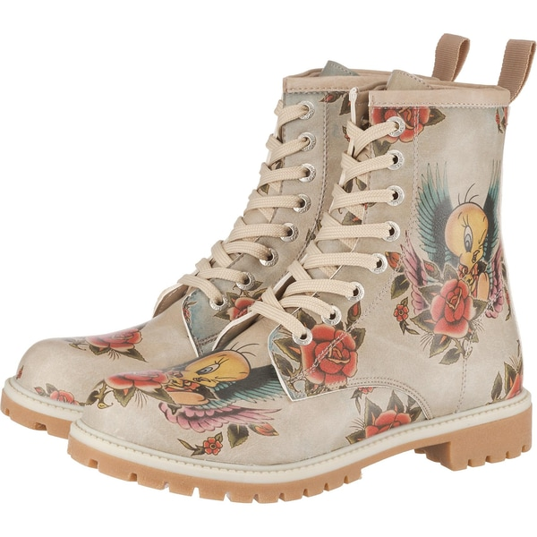 Dogo Shoes Tweety with Roses Schnürstiefel