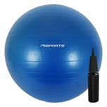 MSports Gymnastikball Premium ANTI BURST inkl. Pumpe - 105 cm Königsblau
