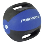 MSports Medizinball Premium mit Griffe – Professionelle Studio-Qualität Gymnastikbälle 8 kg - Königsblau