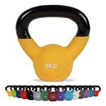 MSports Kettlebell Professional Neopren Kugelhantel Set 2 Kg - Gelb