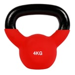 MSports Kettlebell Professional Neopren Kugelhantel 4 Kg - Rot