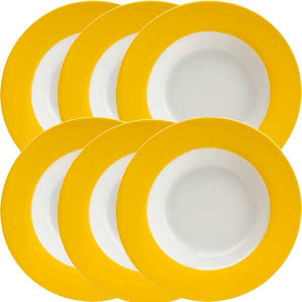 Gepolana Suppenteller gelb 6er-Pack