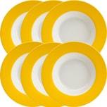 Gepolana Suppenteller 6er-Pack gelb