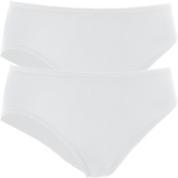 PomPadour Damen-Slip 2er-Pack weiß