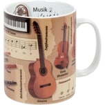 """Kaffeebecher """"Musik"""" bunt"""