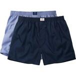 Tom Tailor Herren-Boxershorts 2er-Pack dunkelblau/blau kariert