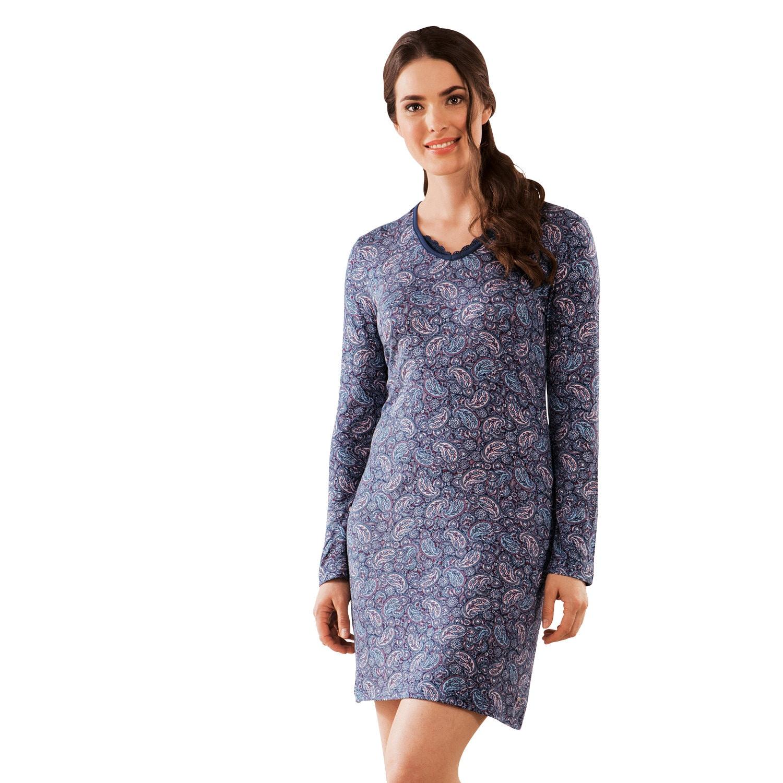 Esprit Damen-Nachthemd marine/rose