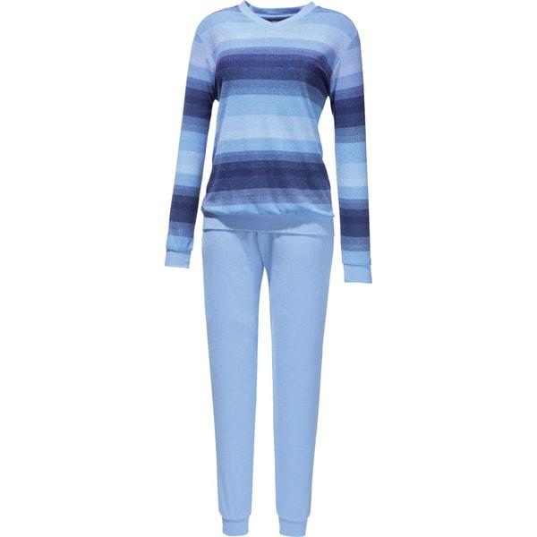 Hajo Damen-Schlafanzug blau