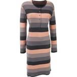Schiesser Damen-Nachthemd dunkelbraun/grau/apricot