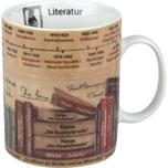 "Kaffeebecher ""Literatur"" bunt"