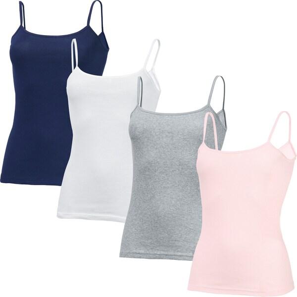 Speidel Damen-Unterhemd 4er-Pack rose/grau meliert/weiß/marine
