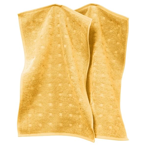 Möve Gästetuch 2er-Pack Quadretti gelb