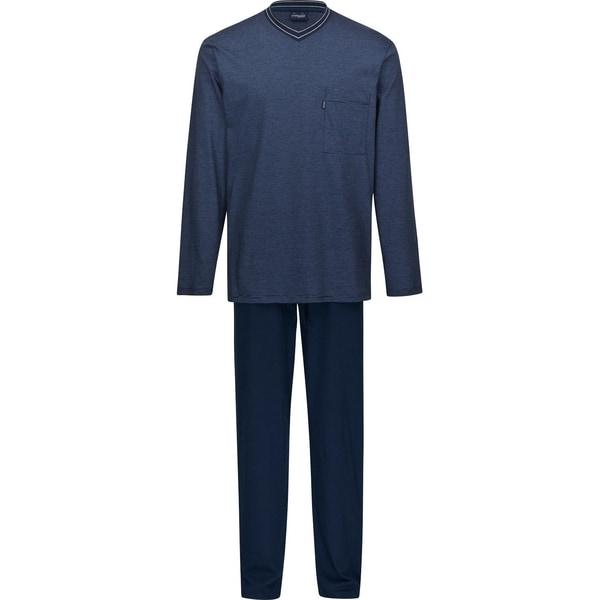 Ammann Herren-Schlafanzug dunkelblau