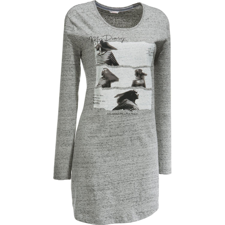 Esprit Damen-Nachthemd grau