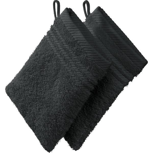 Redbest Waschhandschuh New York 2er-Pack anthrazit