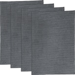 Erwin Müller Microfasertuch 4er-Pack anthrazit 40x60 cm