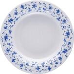 Arzberg Suppenteller Blaublüten weiß/blau