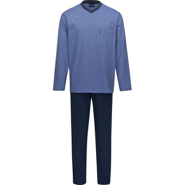 Ammann Herren-Schlafanzug rauchblau