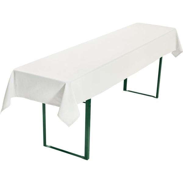 Biertisch Tischdecke weiß