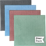 Erwin Müller Microfasertuch 24er-Pack grau/bleu/rosè/jade