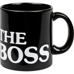 """Könitz Kaffeebecher """"The Boss"""" schwarz"""