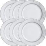 Dessertteller 6er-Pack grau