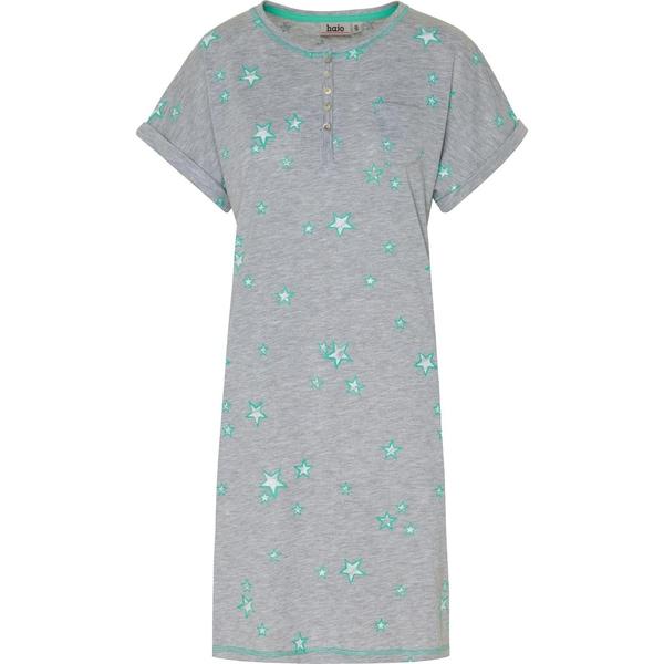 Hajo Damen-Nachthemd hellgrau/grün