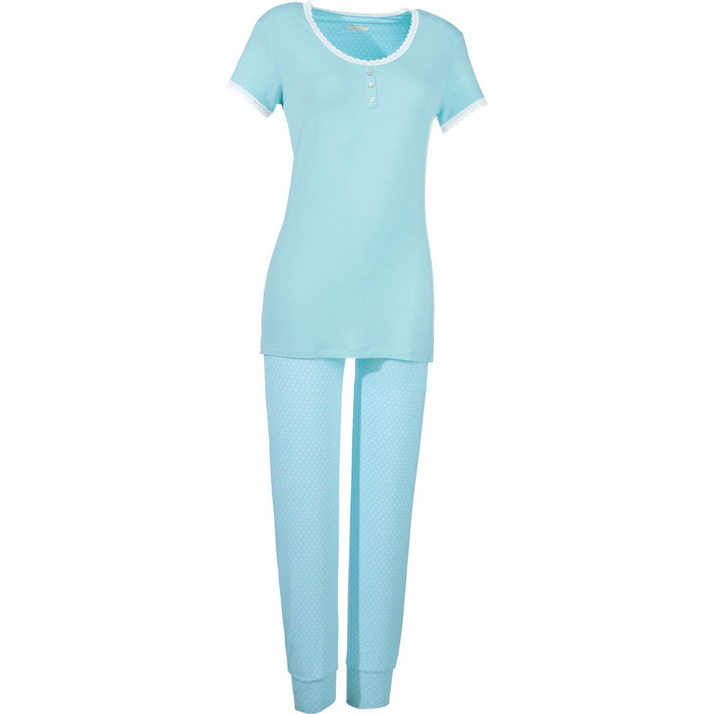 Esprit Damen-Schlafanzug eisblau