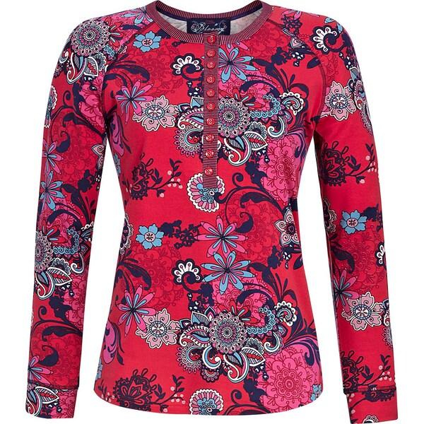 Bloomy Damen-Langarmshirt rot