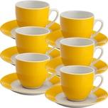 Gepolana Kaffeetassenset gelb 12-teilig