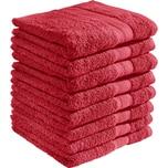 Redbest Duschtuch Chicago rot 8er-Pack