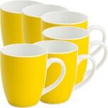 Gepolana Kaffeebecher gelb 6-teilig