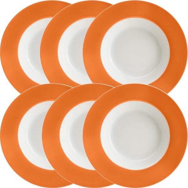 Gepolana Suppenteller orange 6er-Pack
