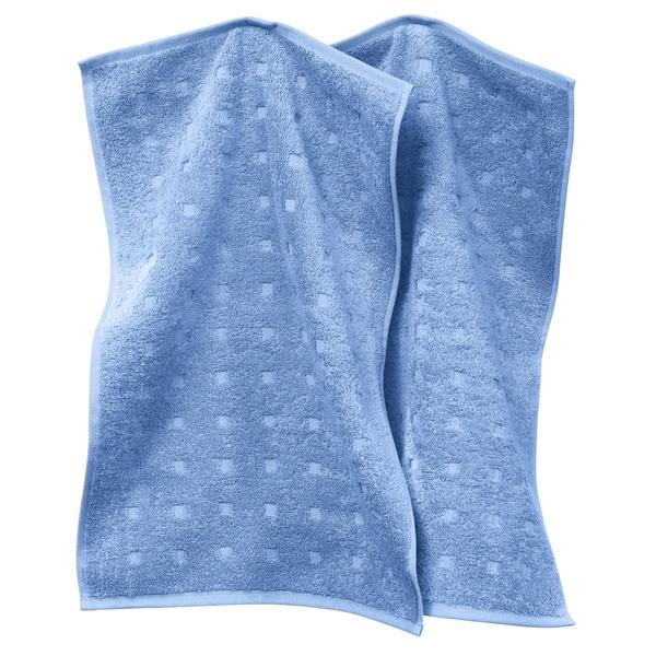 Möve Gästetuch 2er-Pack Quadretti hellblau