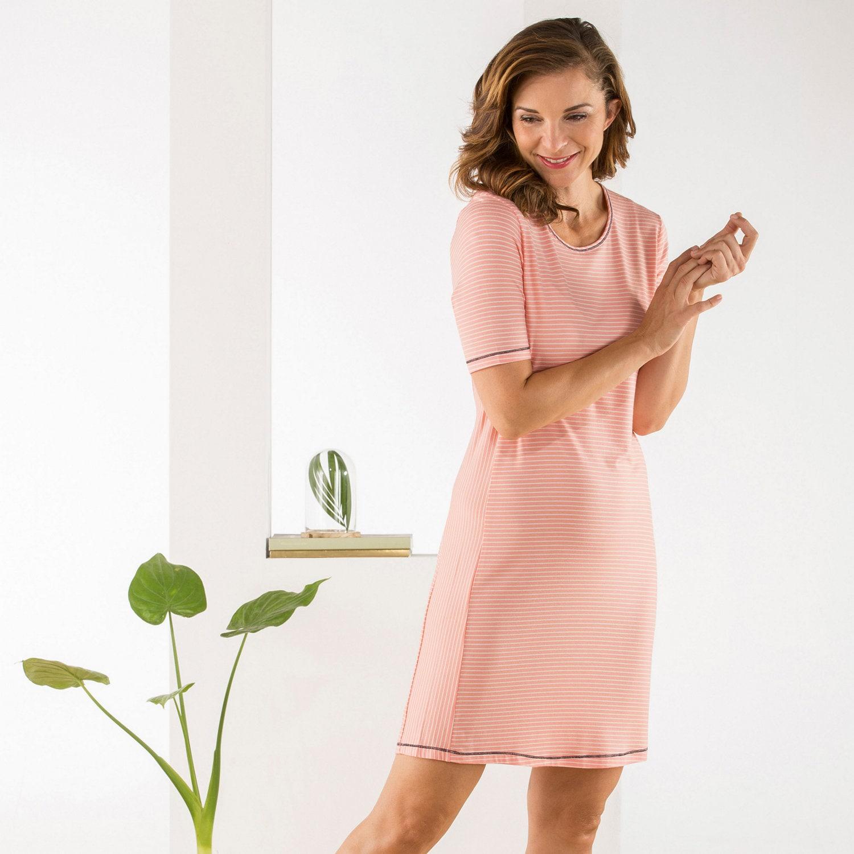 Esprit Damen-Nachthemd lachs