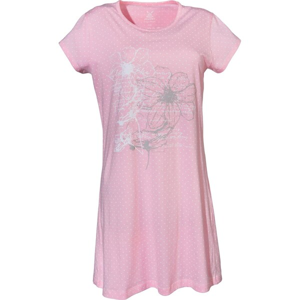 Erwin Müller Damen-Nachthemd mit Druckmotiv rosa