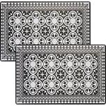 Tischset 2er-Pack schwarz-weiß