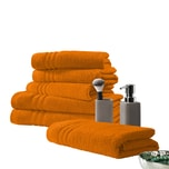 "Frottier-Set ""New York"" 6-tlg. orange"